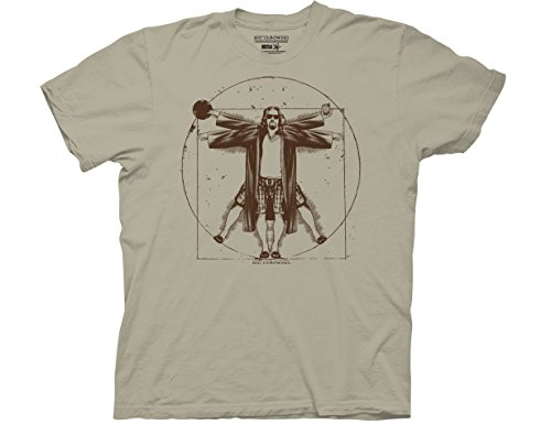 Ripple Junction The Big Lebowski Vitruvian Adult T-Shirt XL Camel