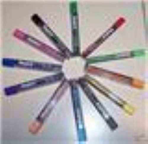 12 TUBES PENTEL 2MM COLORED LEADS FOR PH158. ASSORTED COLORS by Pentel