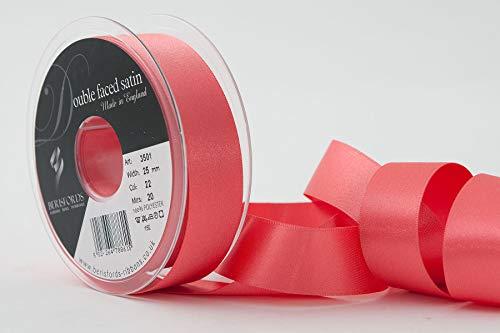 Berisfords Polyester-Garn-Satinband, 25mm, Koralle