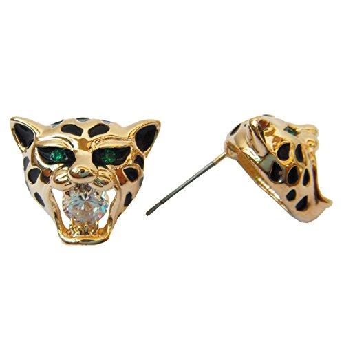 tiger head earrings - 5
