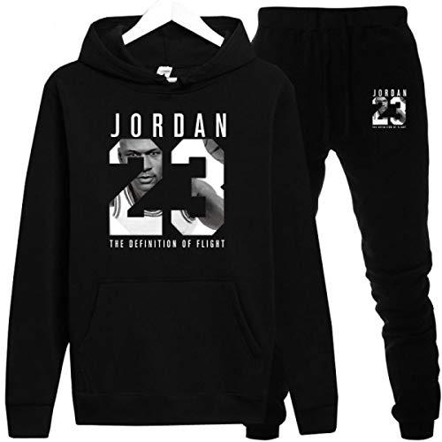 Jordan Hoodies Jordan 23 Sportwear Sets Male Sweatshirts Men Set Clothing+Pants Black (Women Sweaters Jordan)