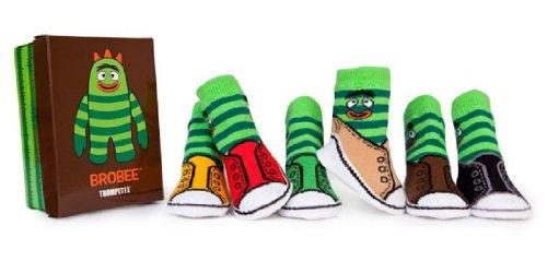Yo Gabba Gabba Baby Boys' 6 Pair Sock Set - Brobee - 0-12 Months]()