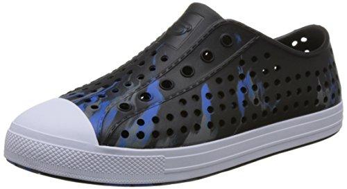 Image of Skechers Boy's, Guzman 2.0 Solar Swirlers Slip on Shoes Black 4 M