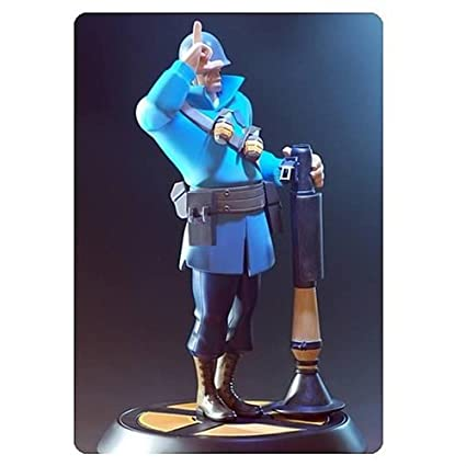 Amazon.com: Gaming Heads GH005 Blue Soldier Team Fortress 2 ...