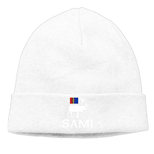 Richard Lyons Men Sami, The People Of Eight Seasons Elastic Street Dance White Beanies Cap Hat