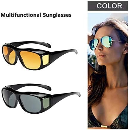 Hd Vision Wrap Arounds Tv Sun Glasses Multi-Functional Glasses Night-Vision Goggles Detachable Sun Glasses