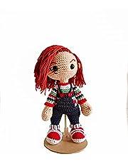 Muñeco Tejido Chucky Peluche Amigurumi hecho a mano 100% Mexicano, Chucky Amigurumis