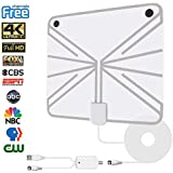 HDTV Antenna, Jamal 60 Miles Long Range Indoor Detachable Digital TV Antenna Amplified Signal Booster for 1080P 4K Free TV Channels High Performance16.2 ft Coax Cable