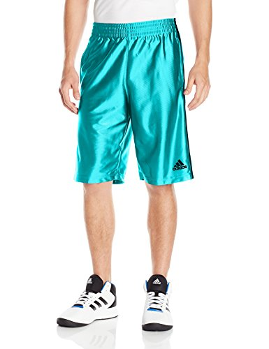 adidas Men's Basketball Basic 4 Shorts, Energy Blue /Dark Grey, (Adidas Blue Basketball Shorts)