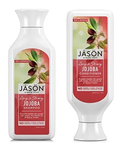 Jason Long & Strong Jojoba Pure Natural Shampoo and Conditioner Duo - 16 - Jason Shampoo Jojoba