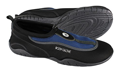 Body Glove Men's Riptide III Trail Running Shoe, Black/Blue Depths, 11.0 M - Body Depth