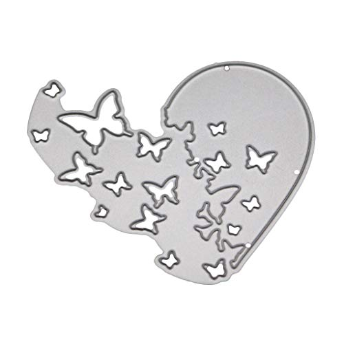 (leidersty Heart Butterfly Metal Cutting Dies Stencil DIY Scrapbooking Album Stamp Paper Card Embossing Craft Decor)