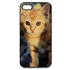 Tabby Kitten Watercolor style Cover iPhone 5 and 5S Case (Pets Watercolor style Cover iPhone 5 and 5S Case)