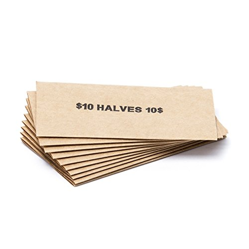 Half Dollar Flat Coin Wrappers, Solid Bundle