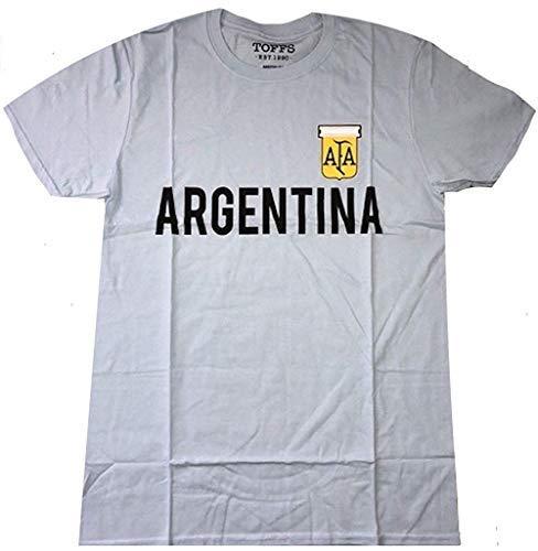 Argentina - Retro Fútbol (Fútbol) - Oficial Camiseta para Hombre - Azul, Small