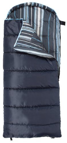 TETON Sports Celsius Junior for Boys -7°C / +20°F Flannel Lined Sleeping Bag (66-Inch x 26-Inch, Blue, Left Zip), Outdoor Stuffs