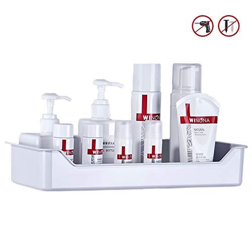 Femonden Adhesive Bathroom Shower Shelf Shower Caddy Organizer Storage Kitchen Spice Rack - No Drilling-1 Pack