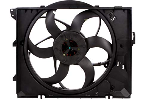 (BOXI 400 Watts Engine Cooling Fan Assembly with Auto Transmission For BMW E90 128i 325i 325xi 328i 328i xDrive 328xi 330i 330xi Z4 17427523259,17117590699)