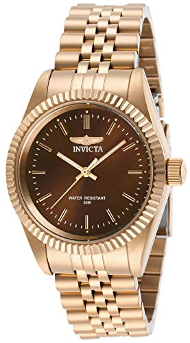invicta watches brown dial - 1
