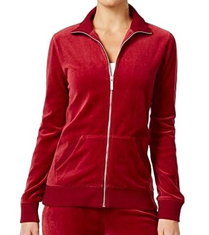 Michael Kors Holiday Womens Full Zip Mock-Neck Sweater Red XS - Michael Kors Zip Cardigan