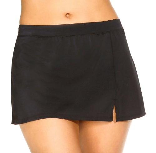 Caribbean-Joe-Solid-Swim-Skirt-Black-10