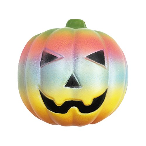 Squishy Squeeze Stress Reliever Rainbow Pumpkin Slow Rising Kids Toy by (Rainbow Pumpkin)