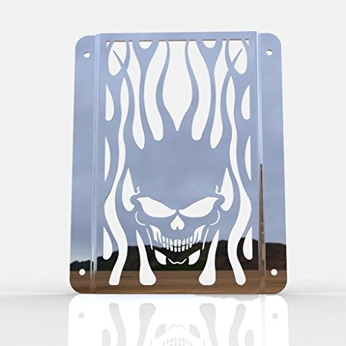 Skull Flame Polished Stainless Radiator Grill fits: for sale  Delivered anywhere in USA