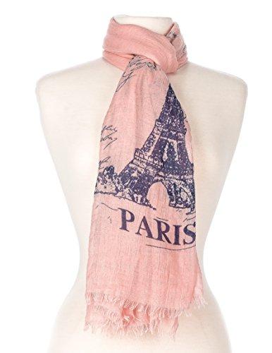 Noble Mount Paris Summer Scarf - Pink (Paris Scarf)