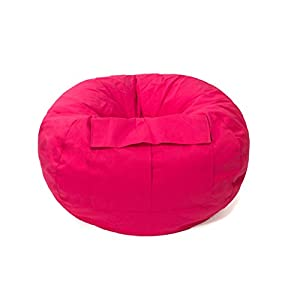 Gold Medal Bean Bags 31012884922 X-Large Denim Bean Bag with Pocket, Pink