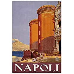 Naples Italy Napoli Advertising Poster Artwork Reproduction Artwork Fridge Magnet