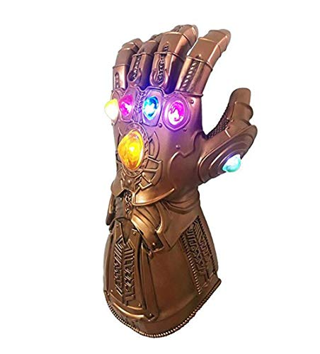 Thanos Infinity Gauntlet Glove LED Light PVC The Hero Cosplay Props -