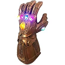 Thanos Infinity Gauntlet Gloves LED Light PVC The Avengers Cosplay Prop Bronze