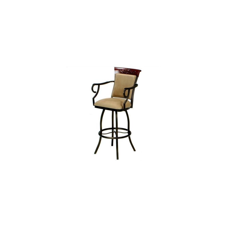 Tempo Custom Bar Stool (55 Fabrics /18 Finishes) Tremont 34 Extra Tall Bar Stool