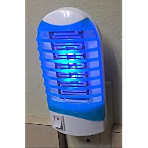 GLOUE Bug Zapper Electronic Insect Killer,Fly Zapper,Mosquito Killer ,mosquito trap,mosquito killer lamp,Eliminates all Flying Pests! It is also Night Lamp (BLUE)