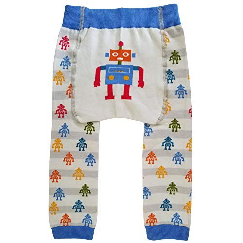 Huggalugs Baby Toddler Boys Girls Unisex Robot Legging Pant 6-12m ()
