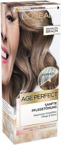 Loreal Age Perfect - Tinte suave para el cuidado (80 ml), color marrón