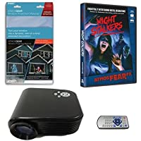 Virtual Reality Halloween Projector Value Kit with Night Stalkers AtmosFEARFx DVD and Screen