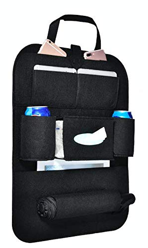 W4-moto Car Backseat Organizer Muti-Pocket Back Seat Storage Bag Car Seat Back Protector Travel Accessories