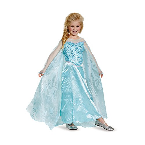 Disguise Elsa Prestige Child Costume, Small (4-6X) (Boys Frozen Costume)