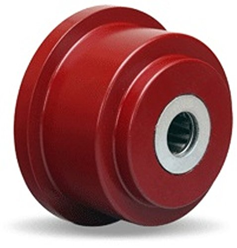 3-1/2'' Cast Iron Flanged Wheel, 500 lbs Capacity, Roller Bearings