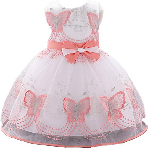 (Baby Girl Dresses Ruffle Lace Pageant Party Wedding Flower Girl Dress 18Months)