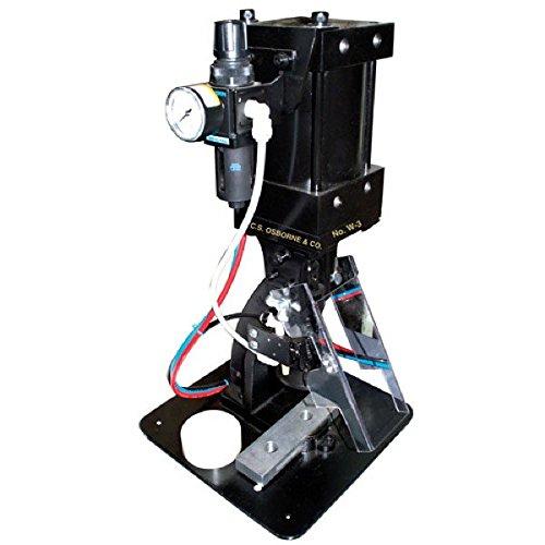 C.S Osborne & Co. No. W-3 - Pneumatic Press Machine for BUTTONS, GROMMETS (plain or spur), VENTILATORS, RAPID RIVETS and SNAPS (MPN #75010)