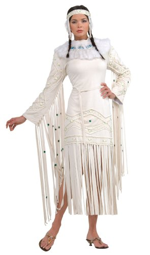 Rubie's Women's Grand Heritage Collection Deluxe Indian Maiden Costume, Off White, Standard ()