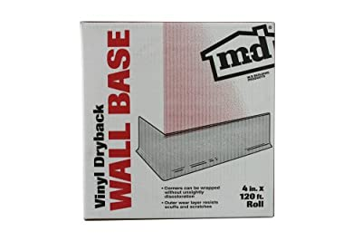 "M D BUILDING PRODUCTS 4"" x 120' Vinyl Cove Wall Base Dry Back Bulk Roll"