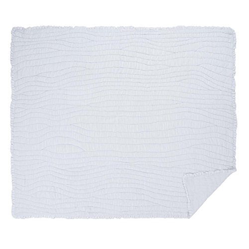 VHC Brands Americana Farmhouse Bedding - Aurora White Quilt, King