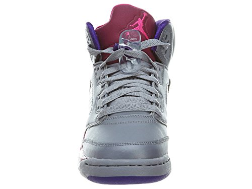 75b35c4cbf77 ... official store amazon kidsgirls nike air jordan retro 5 440892 009  cement grey pink foil raspberry