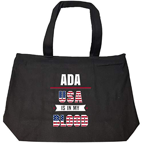 Ada Usa In My Blood Independence Day Gift - Tote Bag With Zip