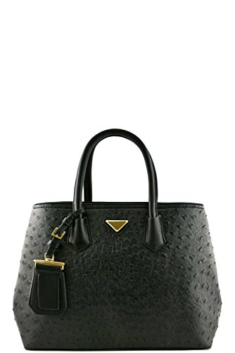 womens-designer-faux-leather-ostrich-top-handle-bag-va2012-black
