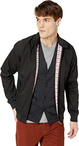 Black Harrington Jacket - Ben Sherman Men's Harrington Jacket, Black Large