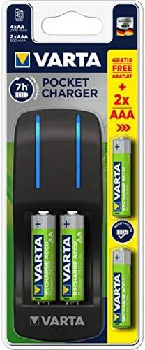 NiMH Corriente alterna, Negro, Carga, Cargador de bater/ías para interior, AA, AAA, N/íquel-metal hidruro Cargador Silver Sanz 57642301431